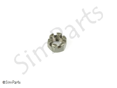 hexagon thin slotted nut front axle M18x1.5
