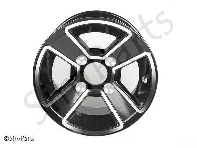 velg aluminium/zwart voor 12
