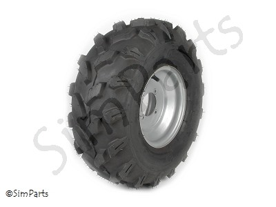 off-road band achter 19x7-8, incl. stalen velg