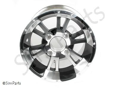 velg aluminium/zwart achter 12